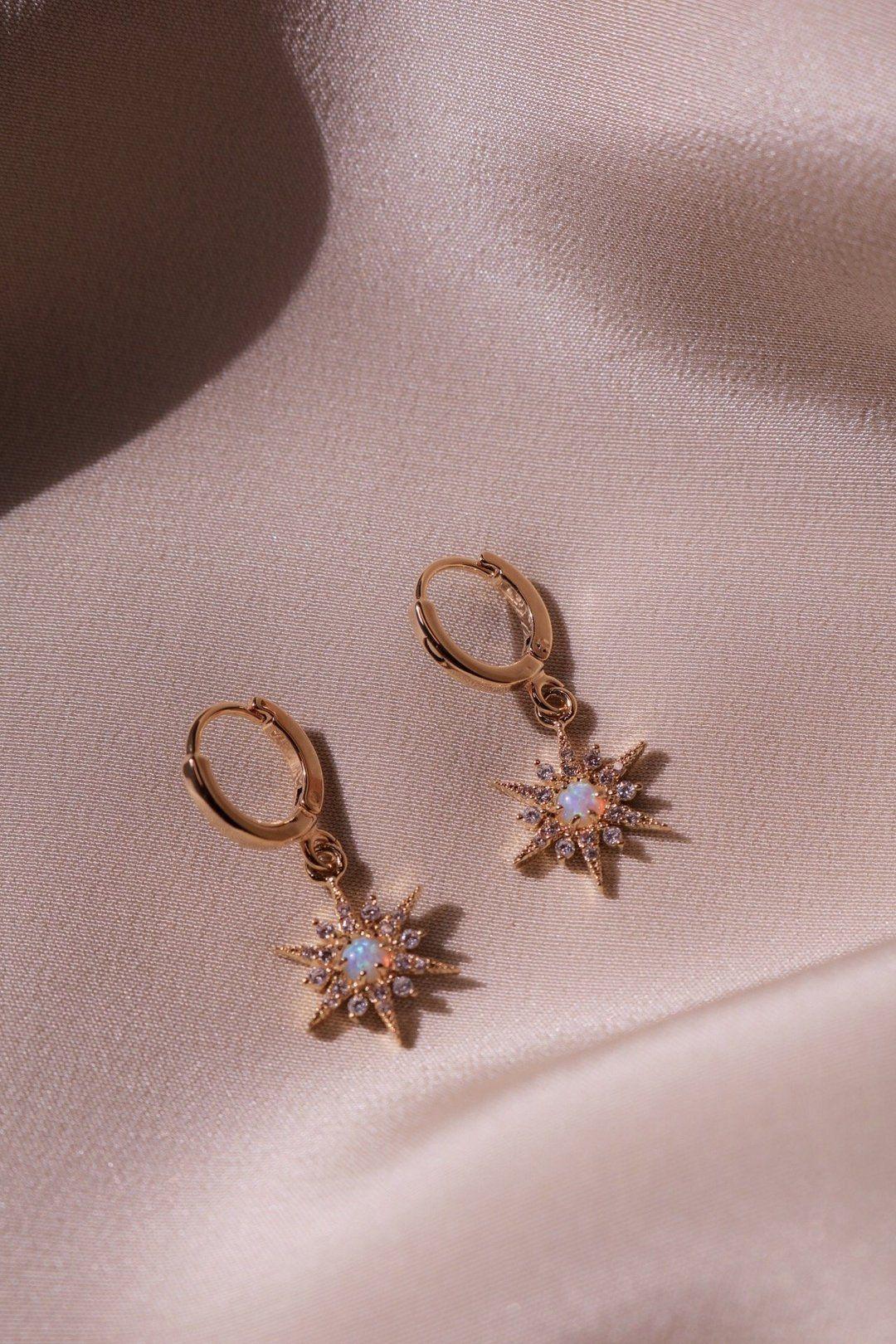 Photo of Stardust Earrings –   – #daintyjewelry #earrings #handmadejewelry #jewelryaesthe…