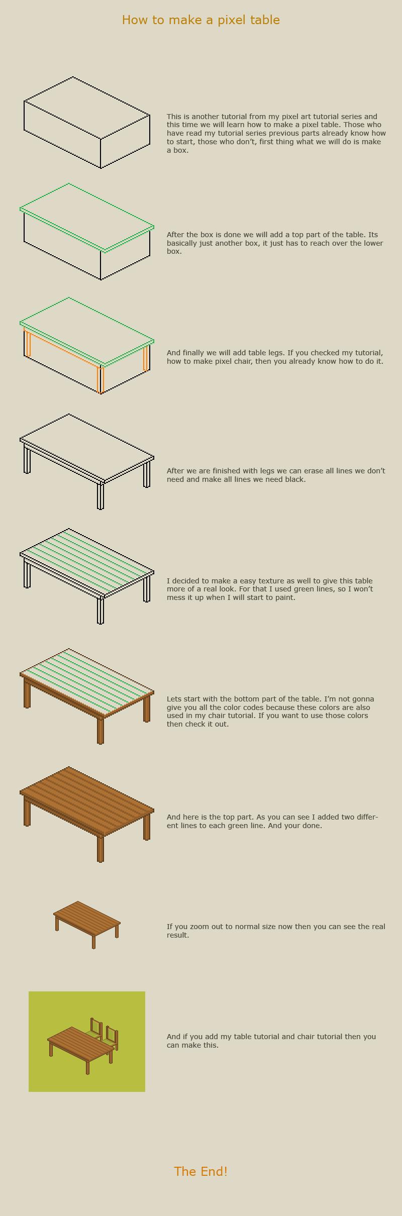 How To Make A Pixel Table By Vanmall On Deviantart Pixel Art Retro Tutoriais