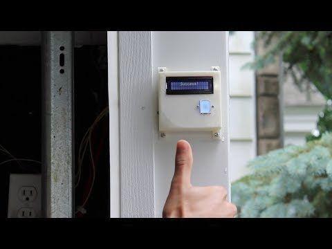 Diy Fingerprint Scanning Garage Door Opener Pinterest Garage