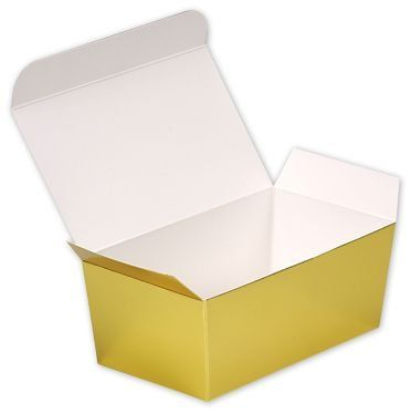 Food And Gourmet Boxes Bright Gold Paper Ballotin Boxes 5 7 8 X 3 1 4 X 2 1 2 50 Boxes Bows Mb12go See This Gr Gold Paper Boxes And Bows Bright Gold