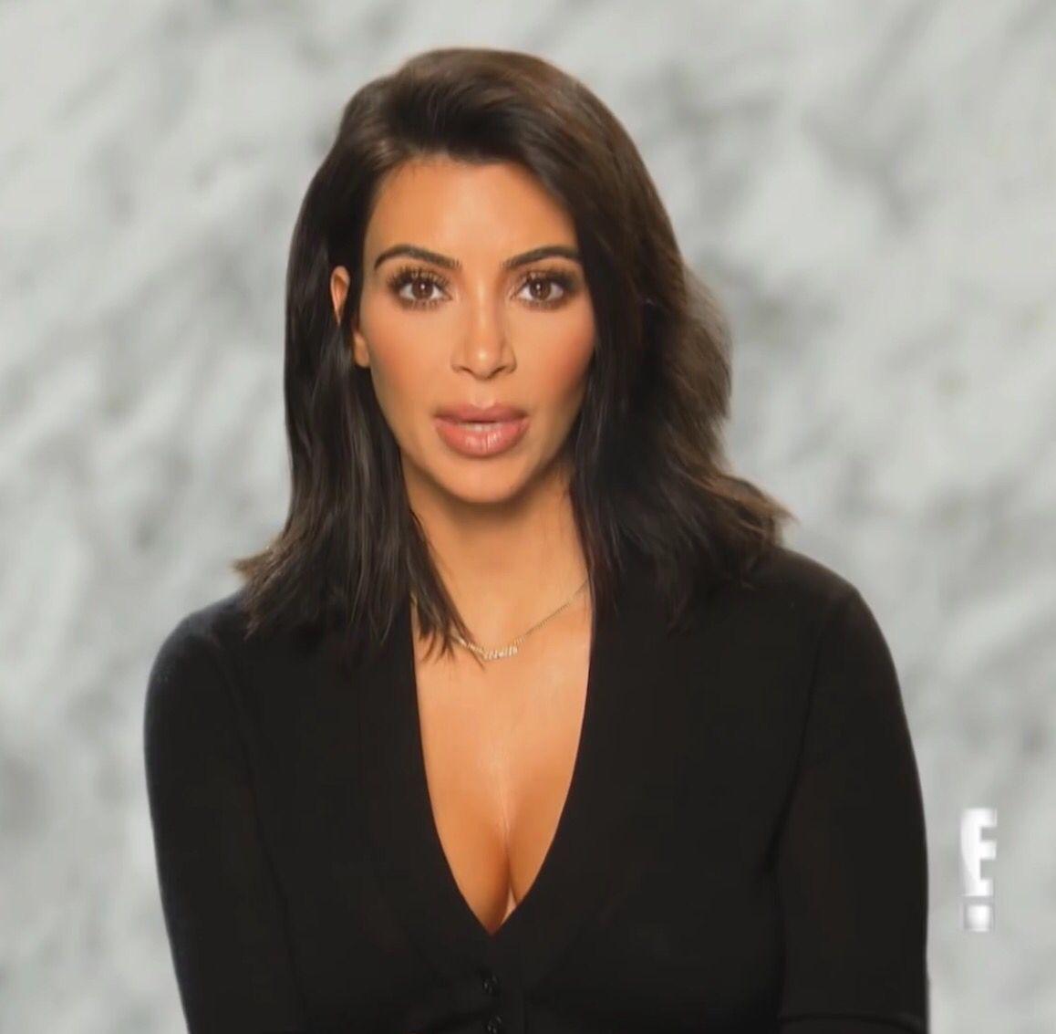 Kim Kardashian Short Hair Makeup Kim Kardashian Hair Kim Kardashian Short Hair Short Hair Makeup