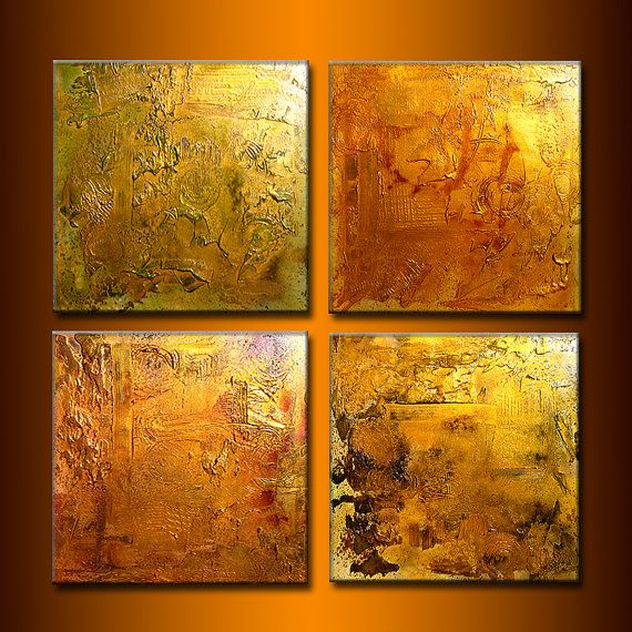 Huge Original Abstract Painting, Textured Metallic Art By Henry
