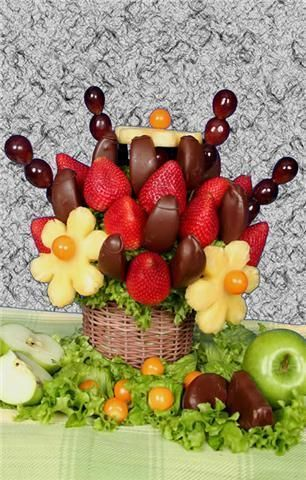 frutas con chocolate quito