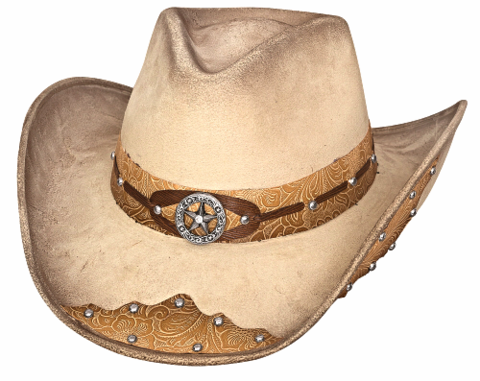 Bullhide Kick The Dust Off Faux Felt Buckskin Cowboy Hat  0738BC ... 272afdaa7