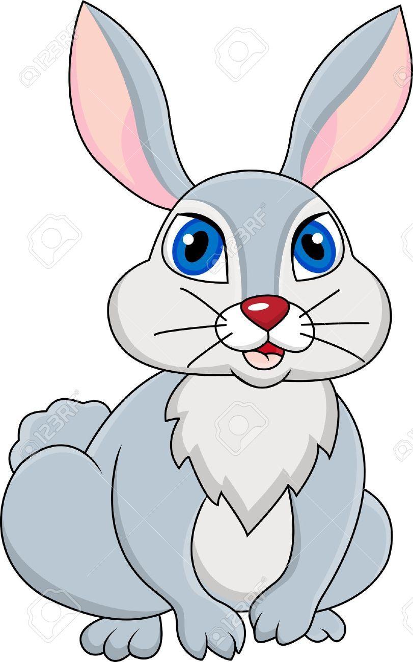 Rabbit Cartoon Zeichentrickfilme Zeichnung Stockfoto