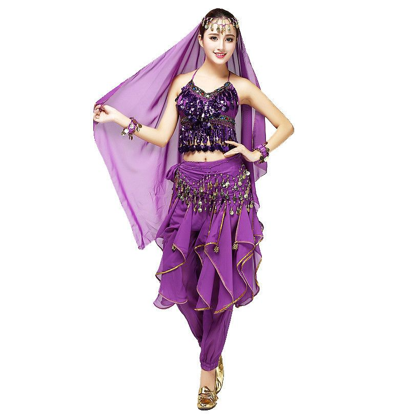 Belly Dancing Costume Set Indian Dance Performance Outfits