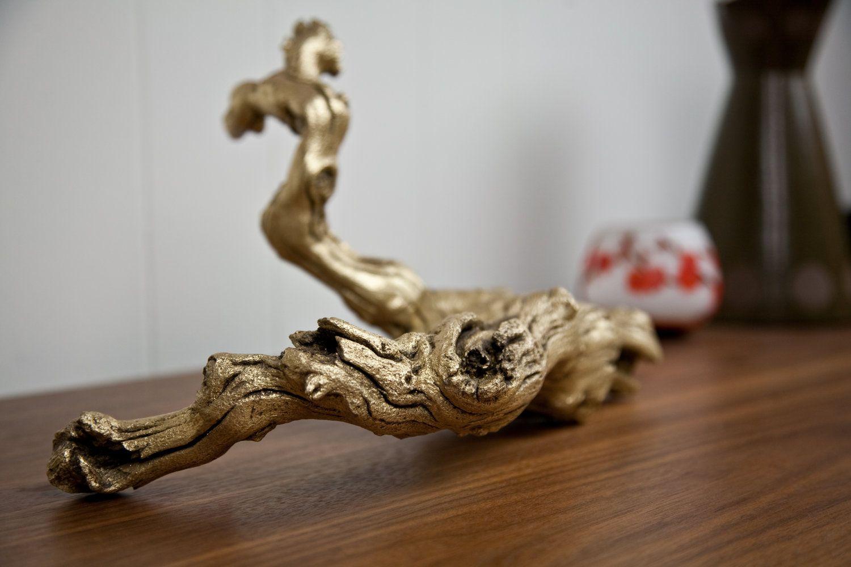 Brass Gilded Grapewood Branch. $145.00, via Etsy.