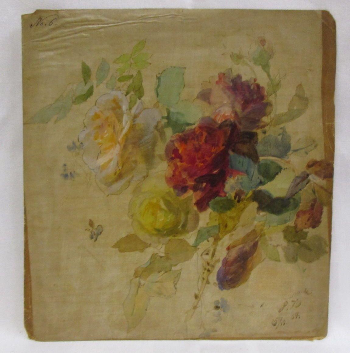 1904 alte künstlersignierte original malvorlage meissner