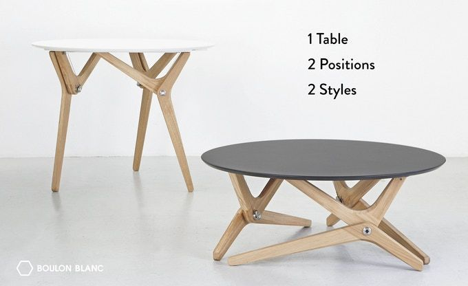 From A Coffee Table To A Diner Table In 1 Second Elegant Functional Made With High Quality Components And Materials Table Modulable Table Basse Modulable Et Table Basse Transformable