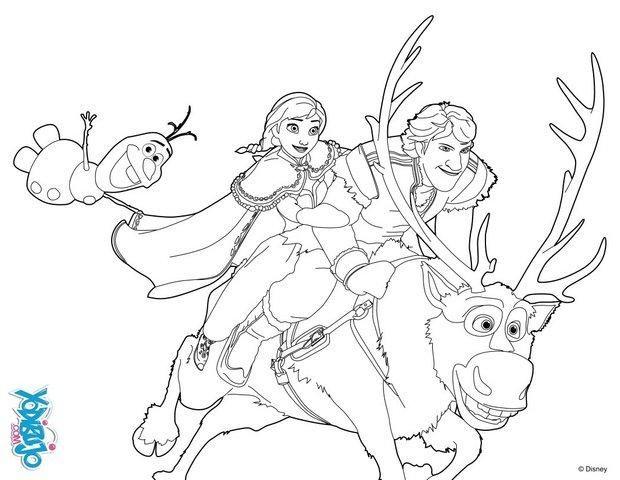 Dibujos Para Pintar Online De Disney I: Dibujo Para Colorear : Ana Y Kristoff