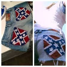 Image Result For Women S Confederate Flag Shirts Hair Nails And Piercings Rebel Flag Shorts Rebel Rebel Outfit