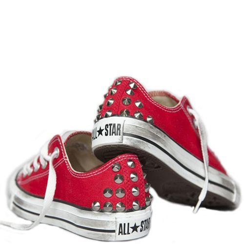 UNiCKZ All Stars Less low rood Rood, Studs en All star