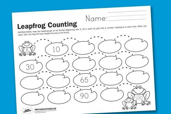 Leapfrog Counting By 5s Worksheet Kids Math Worksheets Kindergarten Math Counting Kindergarten Worksheets