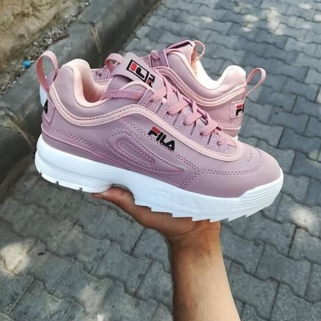 the latest 661af dee46 shoes beauty fashion pink fila shoes shoegame
