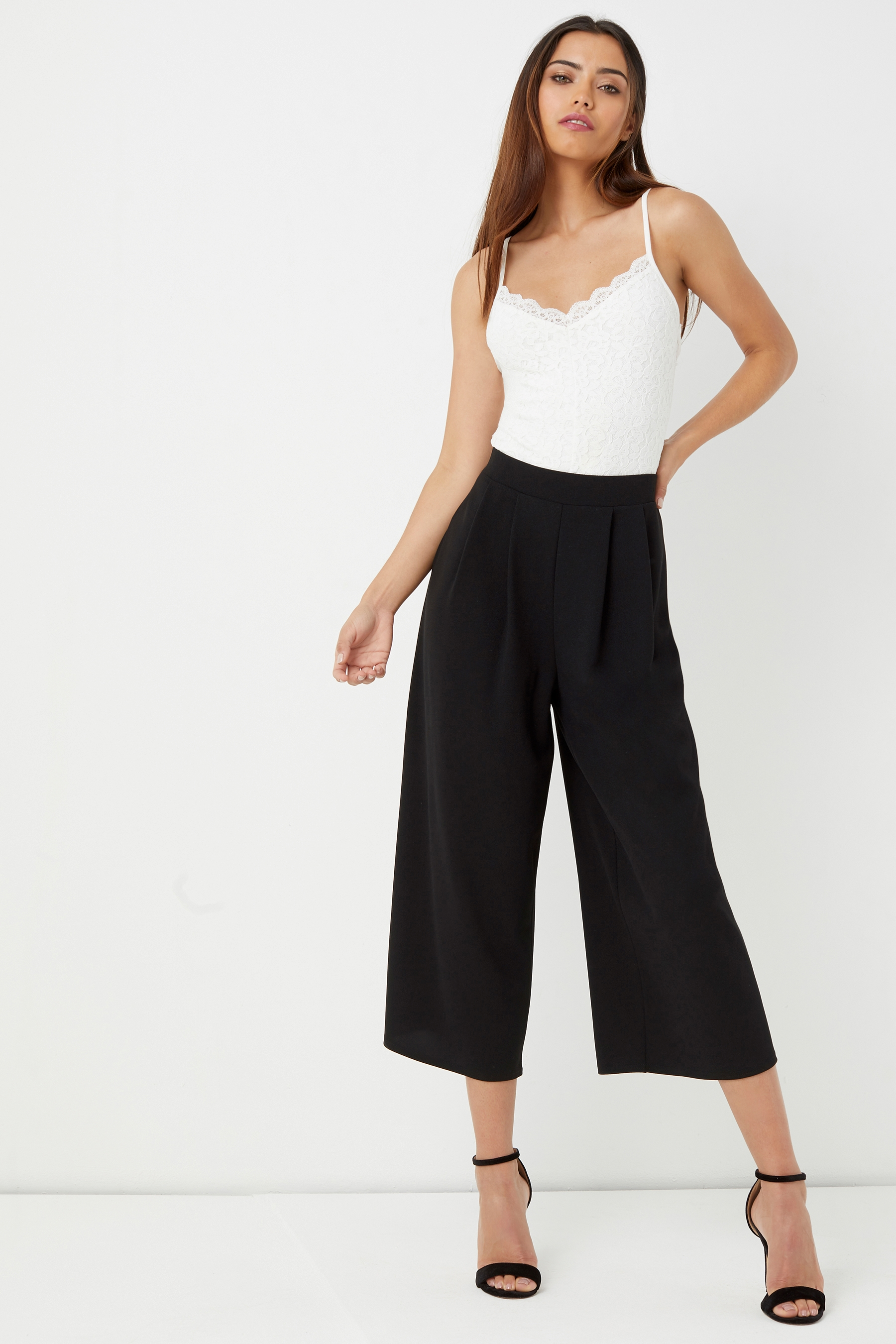15660a30eff9 Womens Lipsy Pleat Front Culotte Trouser - Black | Products ...