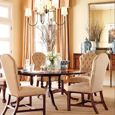 Hickory chair dining room. Find this and more at http://yarbroughinteriors.com/dining-room/.