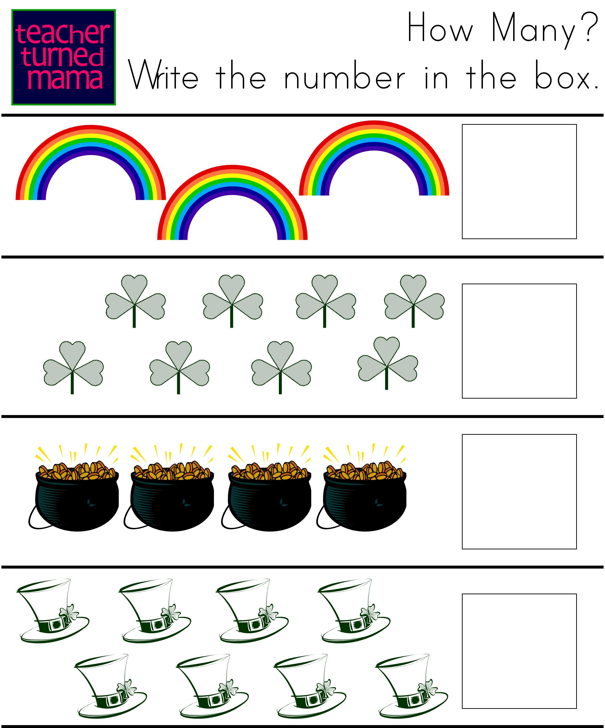 Teacher Turned Mama St Patrick S Day Activity Sheet