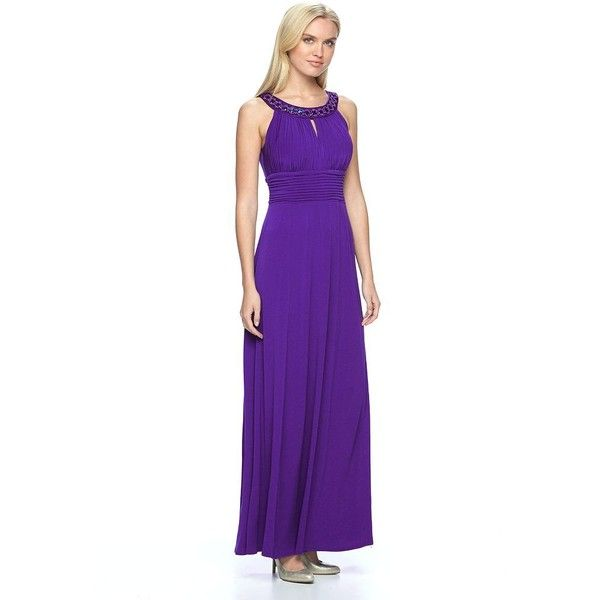 Women\'s Chaya Embellished Pleated Evening Gown ($91) ❤ liked on ...
