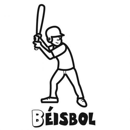 Dibujo para imprimir y pintar de béisbol | Esports | Pinterest