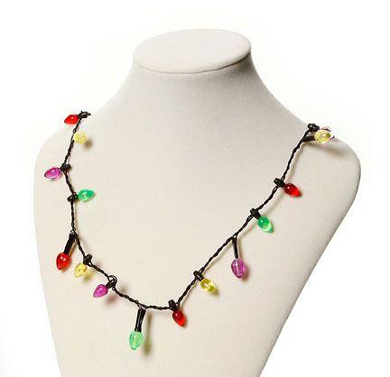 Light Up Christmas Light Bulb Necklace