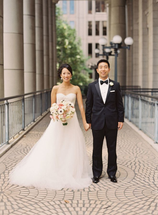 Bride and groom for an elegant wedding
