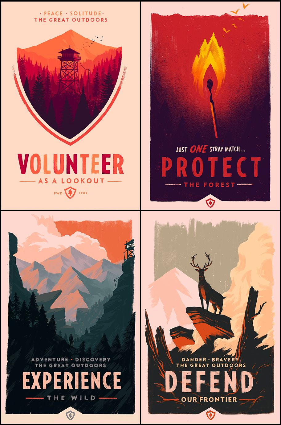 Olly Moss O Firewatch Posters