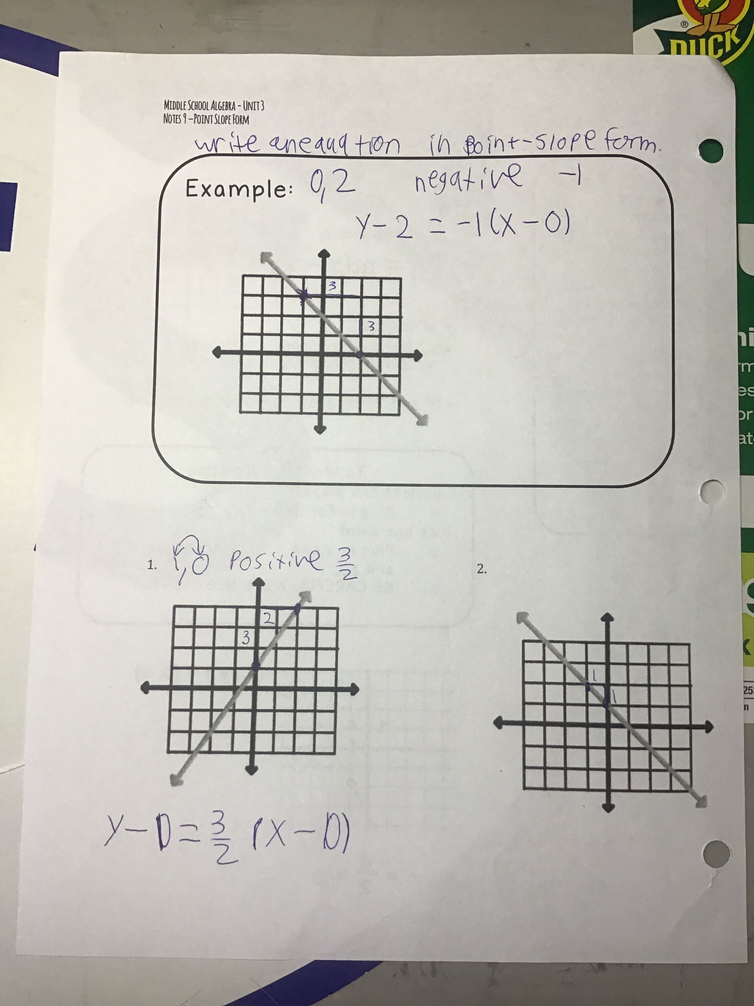 3 9 Notes Page 2 1 27 20 Point Slope Notes Teachers [ 3264 x 2448 Pixel ]