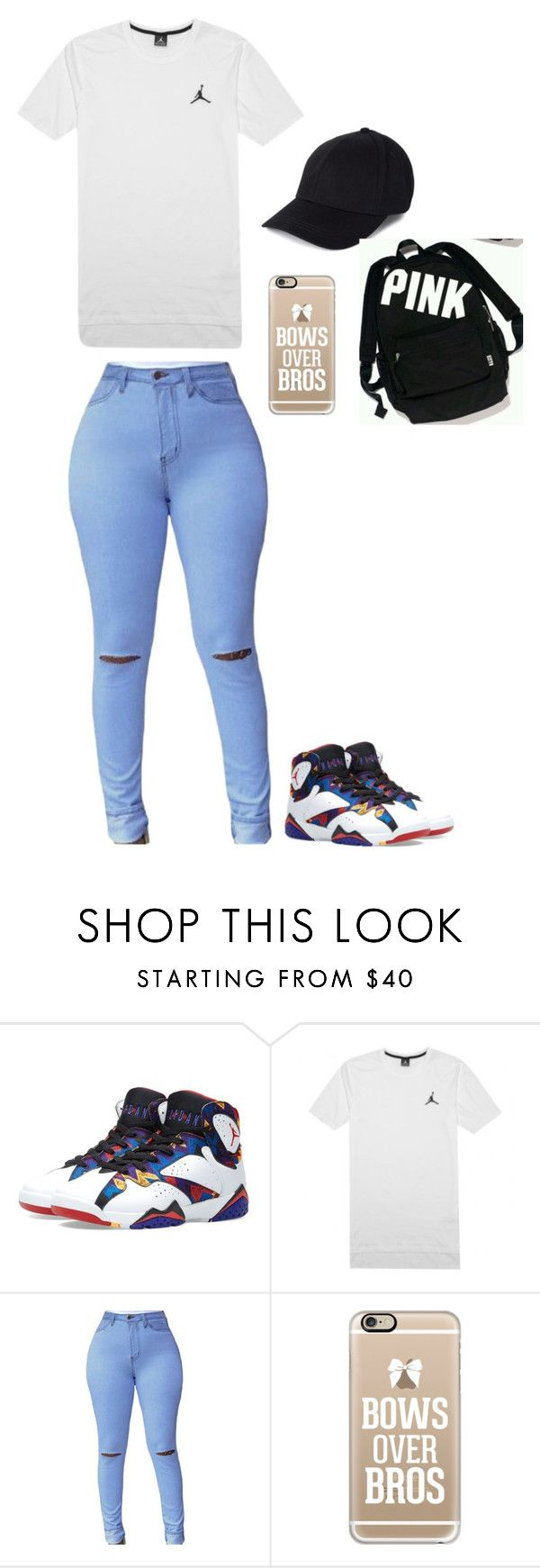 """""""Untitled #512"""" by justinbiebz94 on Polyvore featuring Jordan Brand, NIKE, Casetify and Victoria's Secret"""