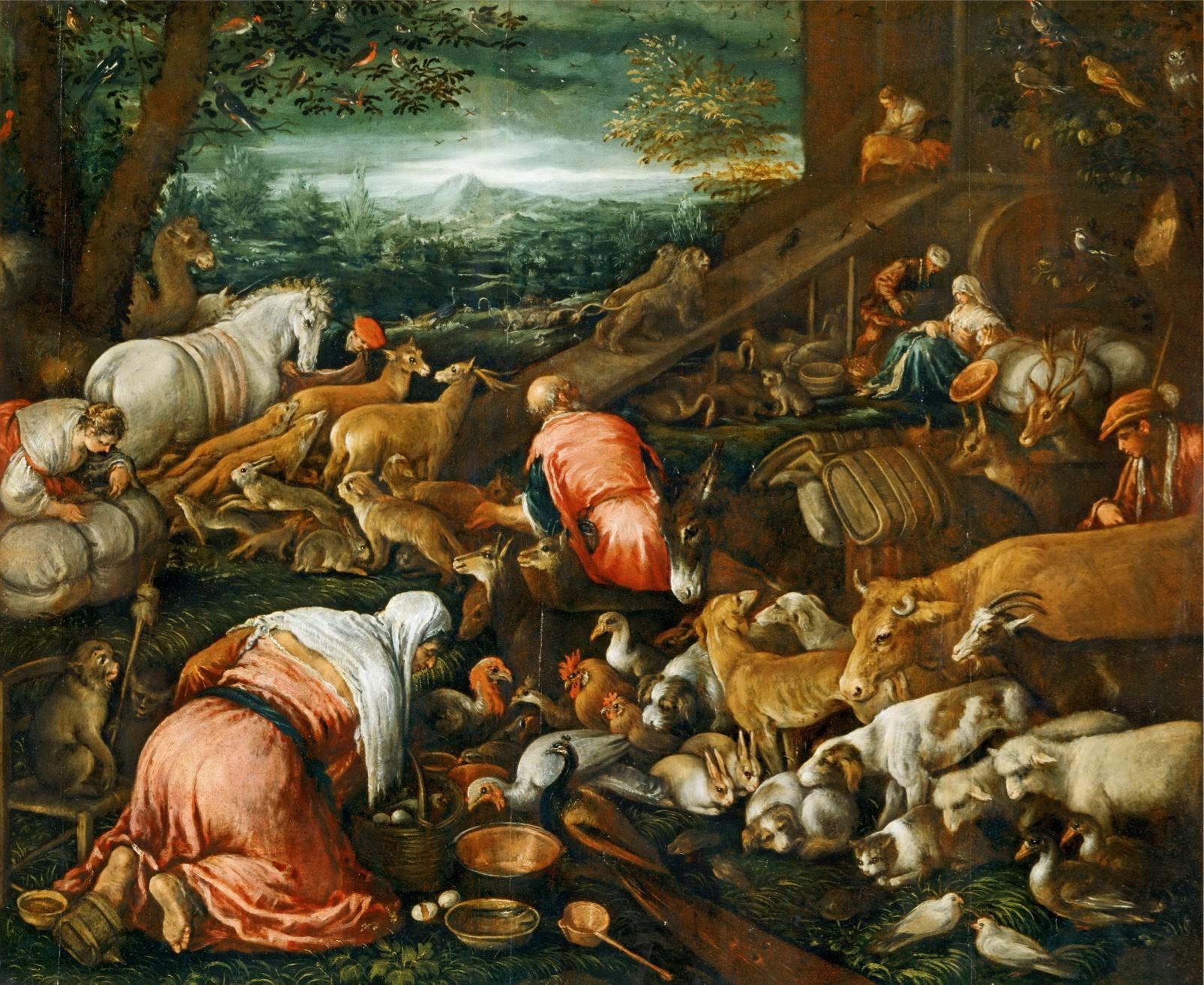 jacopo bassano il vecchio animals entering noah u0027s ark bible
