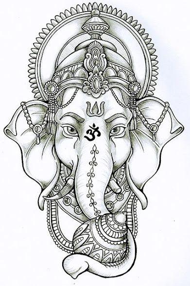 12b0b5b5fa90d Best Ganesha tattoos Dessin Tattoo, Tattoo Drawings, Tatoo Art, Tattoo  Removal, Ganesha