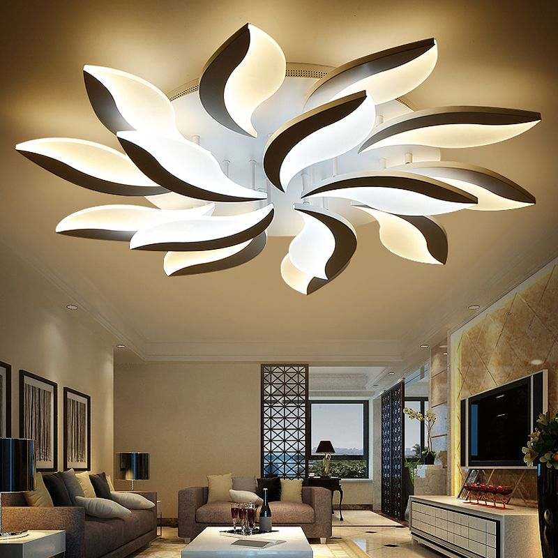 Fashion White Acrylic Ceiling Lights For Living Room Lamparas De