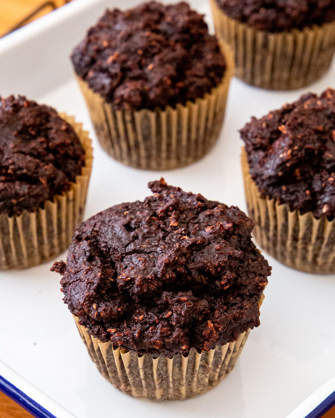 Quick and Easy Chocolate Banana Oat Protein Muffin