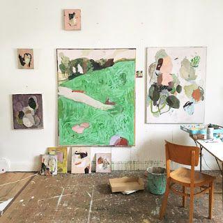 Anne Sophie Tschiegg Les Chantiers Janvier 2016 Art Studio Space Abstract Artists