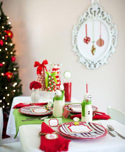 La mesa de los ni os una ambientaci n ideal y llena de for Ambientacion para navidad