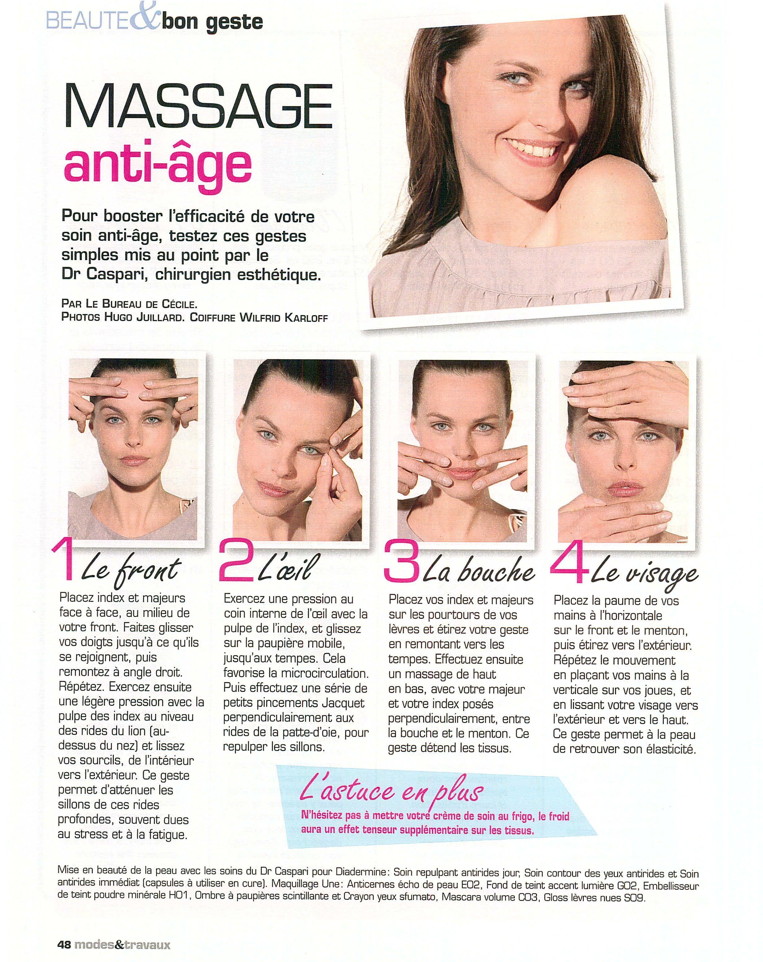 massage visage anti ge entretien du corps pinterest massage visage bien tre et sant beaut. Black Bedroom Furniture Sets. Home Design Ideas