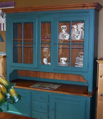 Ethan Allen Country Crossings Dining Room Buffet With Lighted China Hutch