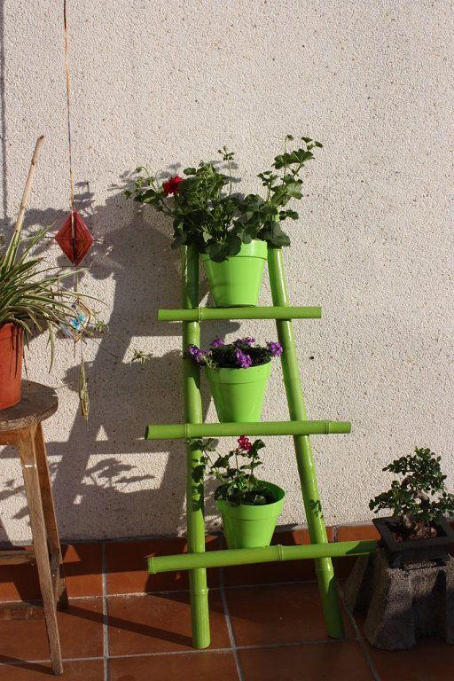 escalera de bamb para mis plantitas
