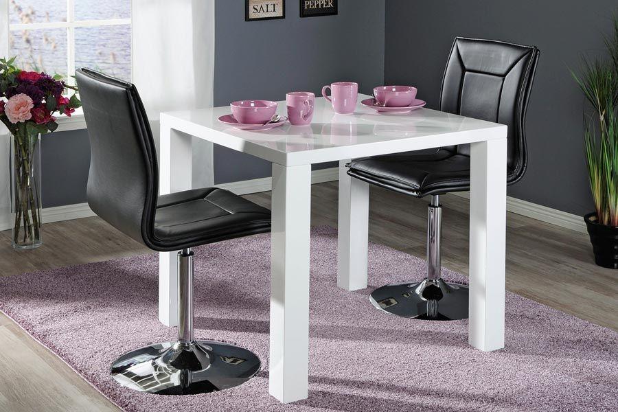 CAVA-ruokailuryhmä (CAVA-pöytä 80x80cm+2 PIANO-tuolia musta) - Ruokailuryhmät ja pöydät   Sotka.fi