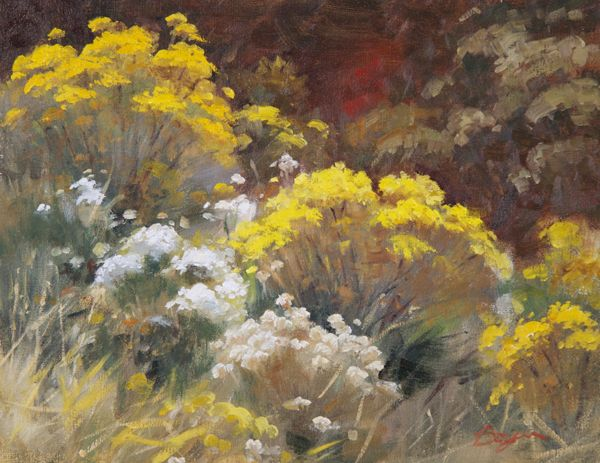 Mockingbird Gallery - Rabbit Brush - Study - Richard Boyer