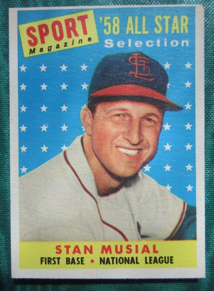 1958 topps stan musial baseball card st louis cardinals