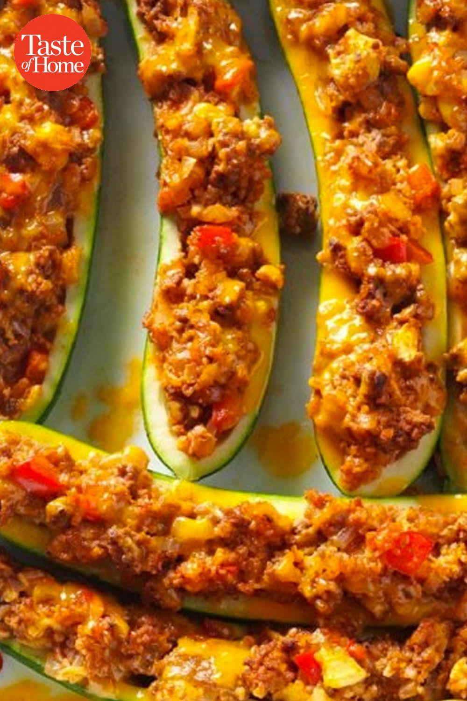 Beef Bulgur Stuffed Zucchini Boats Recipe In 2020 Recipes Yummy Food Food