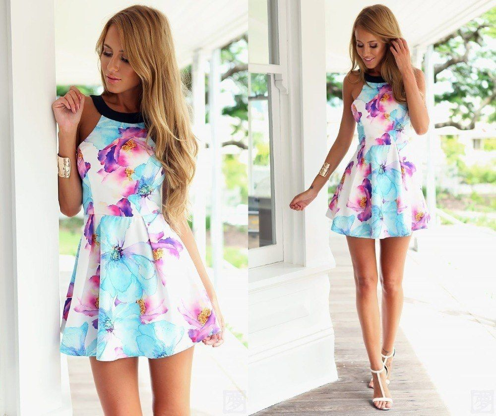 How To Wear Mini Dresses 23 Great Ways To Wear Mini Dresses Teenage Girls Dresses Cute Spring Outfits Summer Dresses [ 839 x 1000 Pixel ]