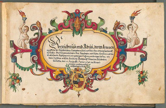 Beschreibung der historischen und allegorischen Personen 1600 titlepage by peacay, via Flickr