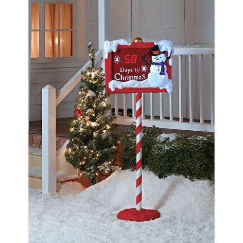 Christmas Countdown Sign Christmas Decor Walmart Christmas