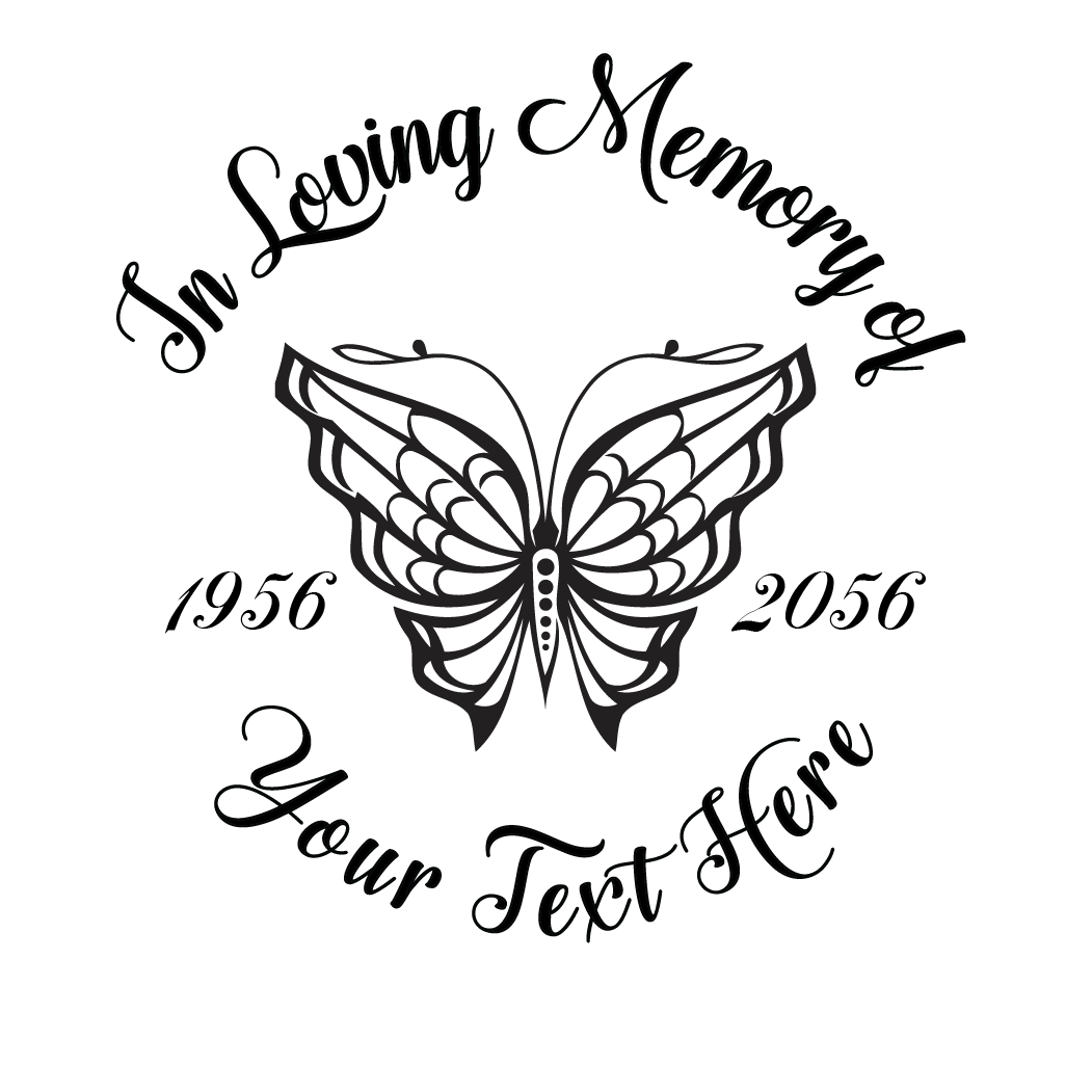 In Loving Memory Cross With Butterfly Border Png 1051 1051 In Loving Memory Tattoos Tattoo For Son Memorial Tattoos