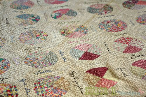 Great-Grandma's Antique Patchwork Circles Quilt dating to 1939 ... : antique patchwork quilts - Adamdwight.com
