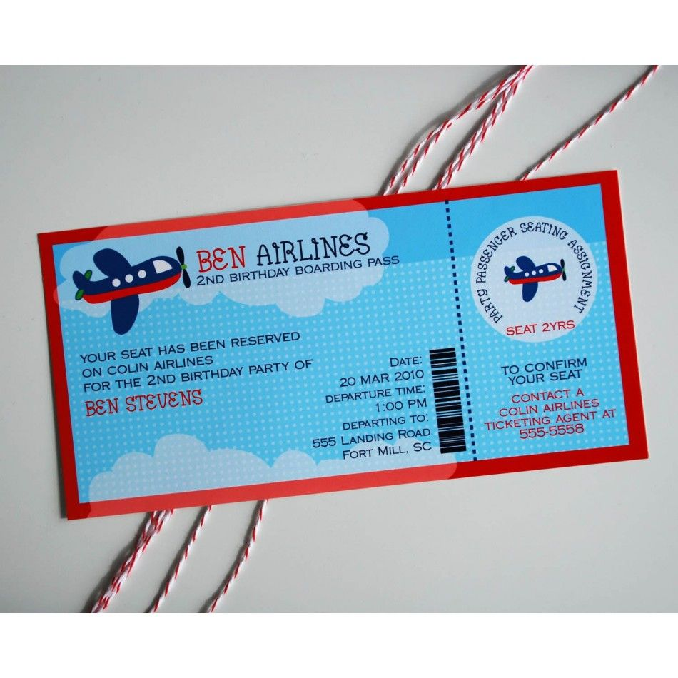 Items Similar To Airplane Birthday Invitation: Airplane Birthday Party Printable Invitation