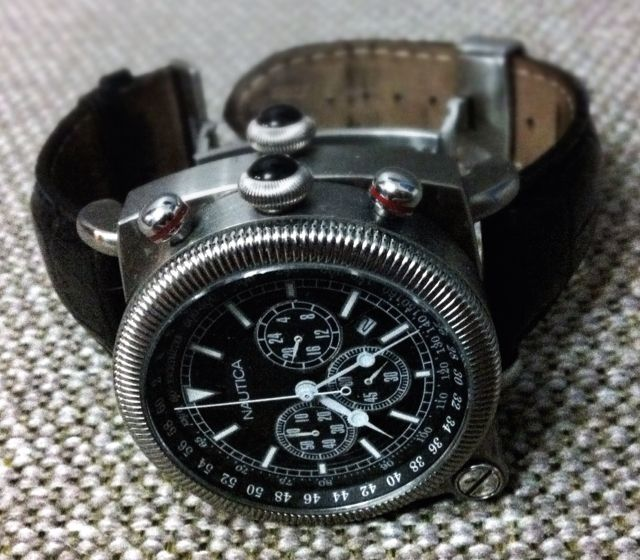 Fancy - Nautica A43001G Gents SPETTACOLARE DUO Titanium Chronograph Flip Watch