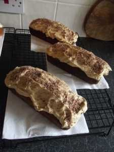 Coffee Loaf Cakes - ideal for bake stalls, moist and flavoursome.