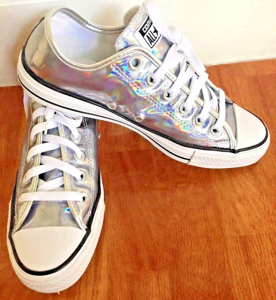 762cb02aff3168 Converse Chuck Taylor All Star Silver Shoes 154469C Man Size 8 Women Size  10